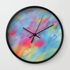 Wrinkle Pixel Wall Clock