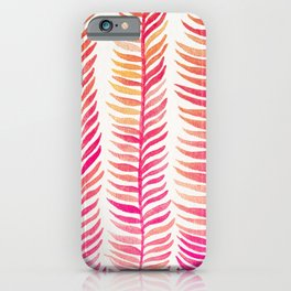 Pink Ombré Seaweed iPhone Case