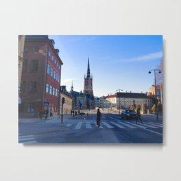 Stockholm Downtown Metal Print