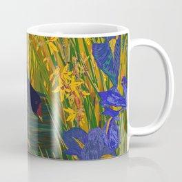 Iris and Moorhen Coffee Mug