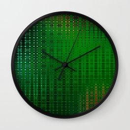 Retro Grid Oasis Wall Clock