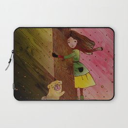 She and Her Pug Tree Laptop Sleeve