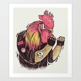 Cook-a-doodle Punk Art Print