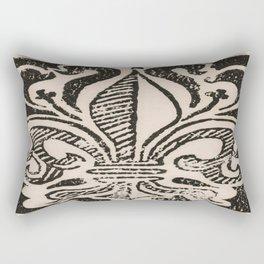Distressed Fleur-de-Lis Rectangular Pillow