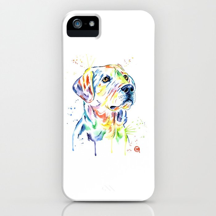 Yellow Lab Colorful Watercolor Painting - Puppy Star iPhone Case