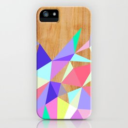 Wooden Geo Pastel iPhone Case