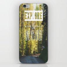 Explore the Unexplored iPhone & iPod Skin