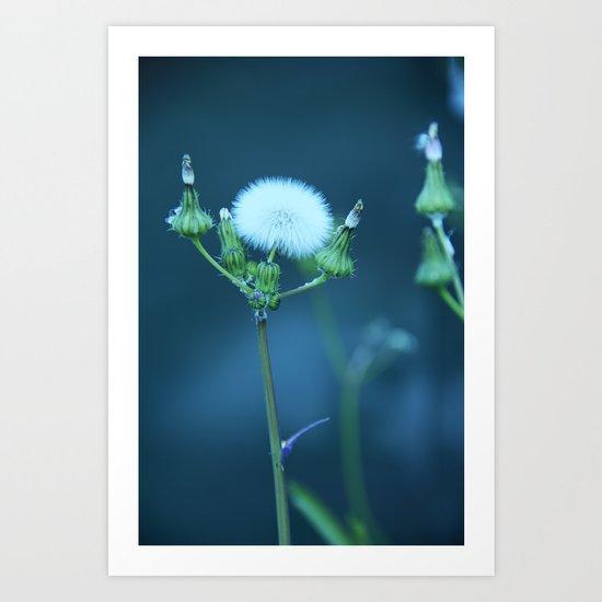 One More Wish (Blue) Art Print