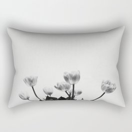 Black & White Tulips Rectangular Pillow