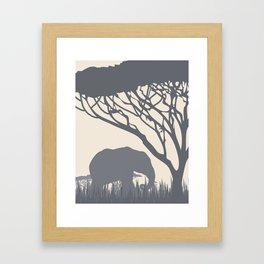 Elephant in the Plains Framed Art Print