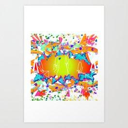 GRAFFITI EXPLOSION Art Print
