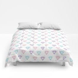 Colourful Diamond Pattern Comforters