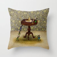 cheese Throw Pillows featuring Cheese by Anna Shell