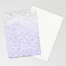 She Sparkles - Pastel Purple Glitter Marble Stationery Cards