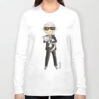 karl lagerfeld Long Sleeve T-shirts featuring Little Karl Lagerfeld by KahriAnne Kerr