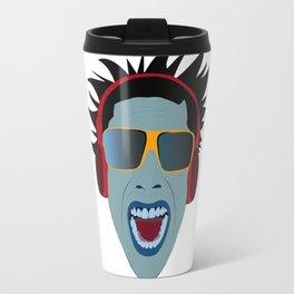 ilustração rosto do autor Travel Mug