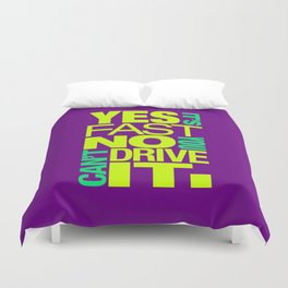 Yes it's fast No you can't drive it v7 HQvector Duvet Cover