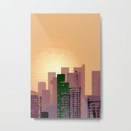 Sunset over Calfifornia Street Metal Print