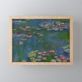 WATER LILIES - CLAUDE MONET Framed Mini Art Print