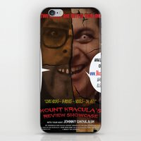 minions iPhone & iPod Skins featuring Kount Kracula's Review Showcase -TV Show Promo Poster  by Tex Watt