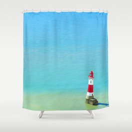 Lonely Light Shower Curtain