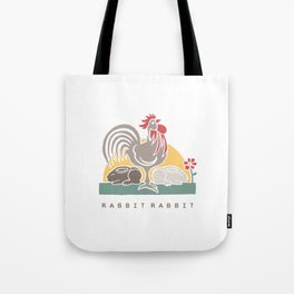 Rabbit Rabbit Year of the Rooster Illustration Tote Bag