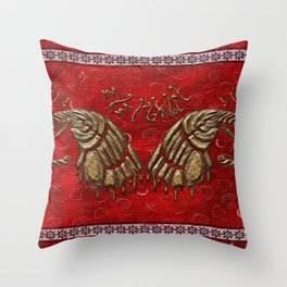 African elephant with ethnic motives V6 V WH Throw Pillow