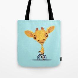 giraffe on sunday Tote Bag