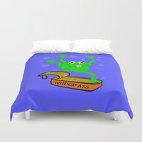 frog Duvet Covers featuring Frog by mailboxdisco