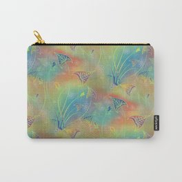 Rainbow Sparkles Leaves Flowers Carry-All Pouch