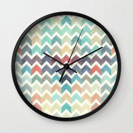 Glitter Chevron IV Wall Clock