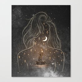 I see the universe in you. Canvas Print