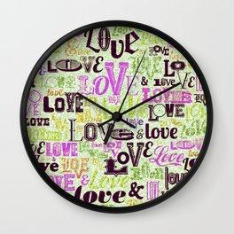 Vintage Love Words Wall Clock
