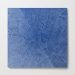 Light Blue Stucco Metal Print