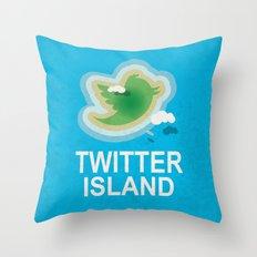Twitter Island Throw Pillow