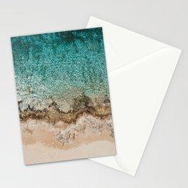 Caribbean Sea Blue Beach Drone Photo Stationery Cards