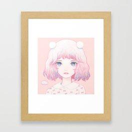 Spring Snow Framed Art Print