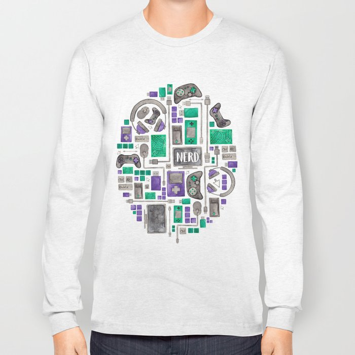 Gamer/Computer Nerd Long Sleeve T-shirt