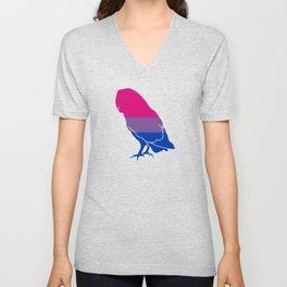 Bi Pride Owl Unisex V-Neck