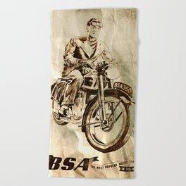 BSA - Vintage Poster Beach Towel