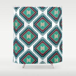 Pistachio Persian Kilim Shower Curtain