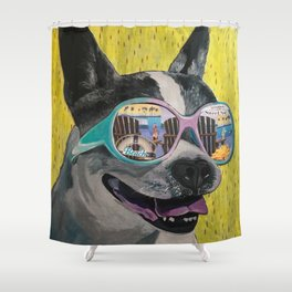 Frosty Face Friday with Gracie Gabriella at the Beach Shower Curtain
