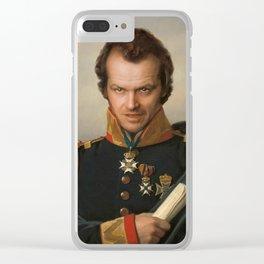 Jack Torrance Portrait Clear iPhone Case