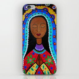 Mexican Folk Art Virgin Guadalupe Painting iPhone Skin