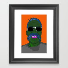 Mr Pickel Buff Framed Art Print
