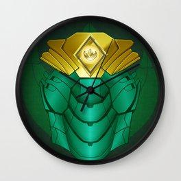 Green Iron Ranger Wall Clock