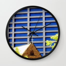 Blessing the Skyscrapers Wall Clock
