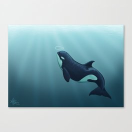"""Subantarctic"" by Amber Marine ~ Type D Orca, Art (Copyright 2014) Canvas Print"