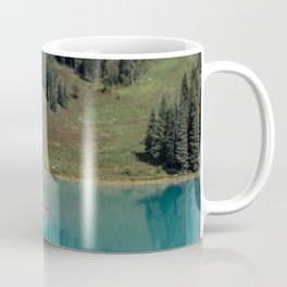 Emerald Lake Canoe Coffee Mug