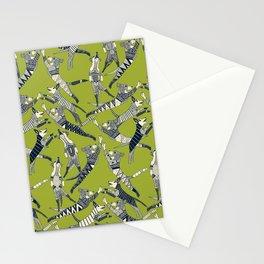 dog party indigo citron Stationery Cards